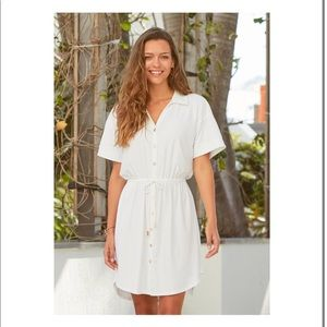 NWT Cabana Life White Shirt Dress Cover Up (UV PROTECTION!)
